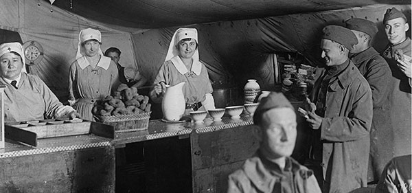 ARC Canteen at Toul, France. Nov. 1918