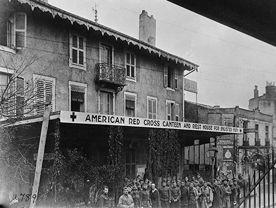 American Red CrosCanteen & Rest House, at Toul France, Nov. 1918